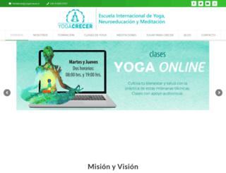yogacrecer.cl screenshot