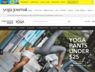 yogajournal.yogaoutlet.com screenshot