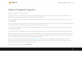 yogalectic.com screenshot