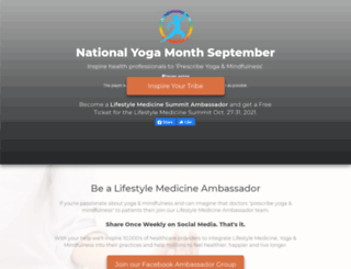 yogamonth.org screenshot