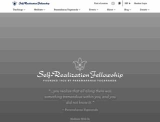 yogananda.org screenshot
