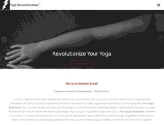 yogarevolutionaries.flywheelsites.com screenshot