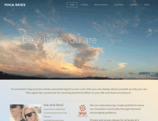 yogaskies.net screenshot