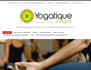 yogatiquebangkok.com screenshot
