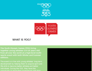yogger.olympic.org screenshot