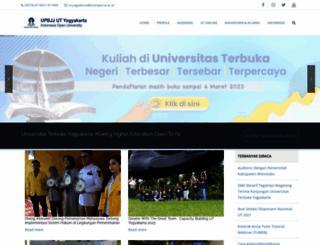 yogyakarta.ut.ac.id screenshot