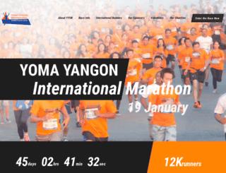 yomayangonmarathon.com screenshot