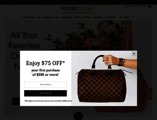 yoogiscloset.com screenshot