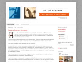 yoquepensaba.blogspot.com screenshot