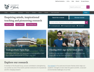 york.ac.uk screenshot