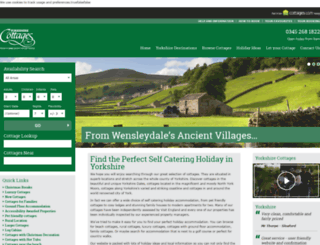 yorkshire-cottages.info screenshot