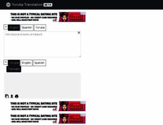 yorubatranslation.com screenshot