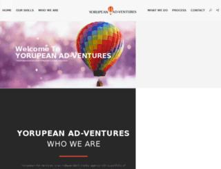 yorupeanadventures.com screenshot