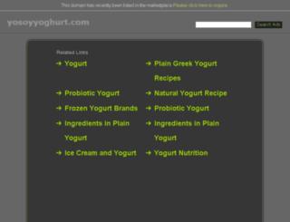 yosoyyoghurt.com screenshot