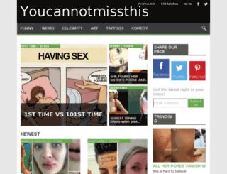 youcannotmissthis.com screenshot