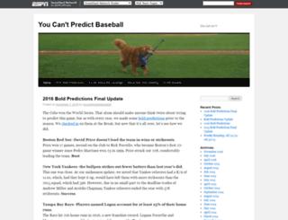 youcantpredictbaseball.com screenshot