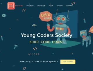 youngcoders.squarespace.com screenshot