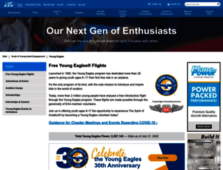 youngeagles.org screenshot