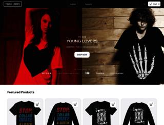youngloverslabel.com screenshot