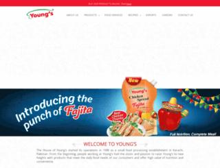youngsfood.com screenshot