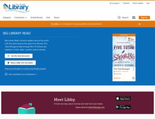youngstown.libraryreserve.com screenshot