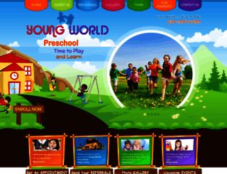 youngworldpreschool.org screenshot