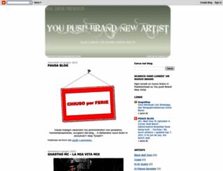 youpushbrandnewartist.blogspot.com screenshot