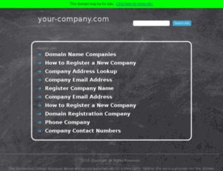 your-company.com screenshot