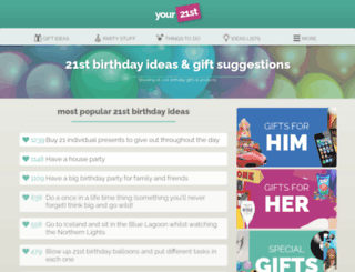 your21st.co.uk screenshot