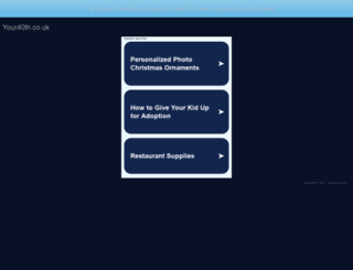 your40th.co.uk screenshot