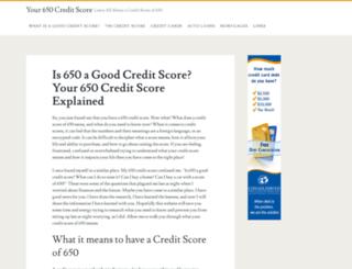 your650score.com screenshot