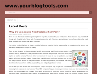 yourblogtools.com screenshot