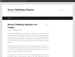 yourclothingchoice.blog.com screenshot