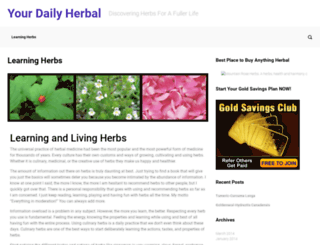 yourdailyherbal.com screenshot