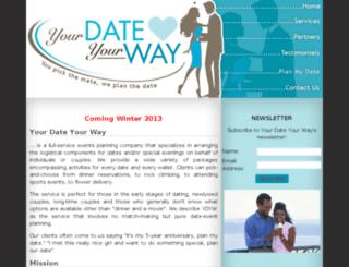 yourdateyourway.com screenshot