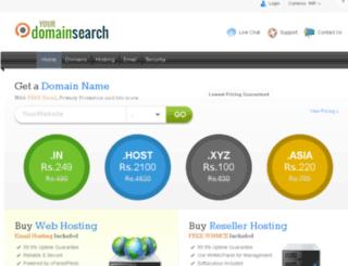 yourdomainsearch.com screenshot
