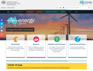 yourenergysavings.gov.au screenshot
