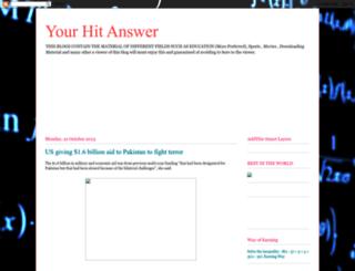 yourhitanswer.blogspot.com screenshot