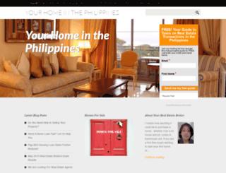 yourhomeinthephilippines.com screenshot