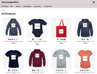 yourimagination.spreadshirt.com screenshot