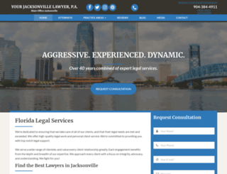 yourjacksonvillelawyer.com screenshot