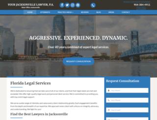 yourjacksonvillelawyer.com screenshot