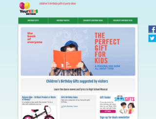 yourkidsbday.co.uk screenshot