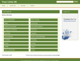 yourlinks.org.uk screenshot