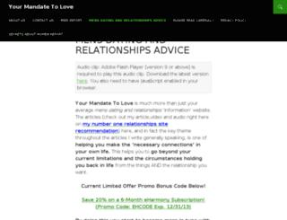 yourmandatetolove.com screenshot