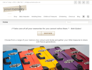 yourmemorybox.ie screenshot