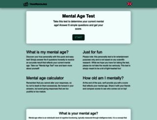 yourmentalage.com screenshot