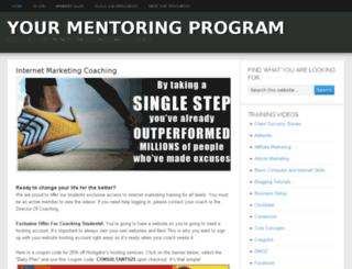yourmentoringprogram.com screenshot
