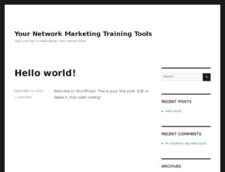 yournetworkmarketingtraining.com screenshot