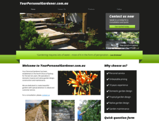 yourpersonalgardener.com.au screenshot